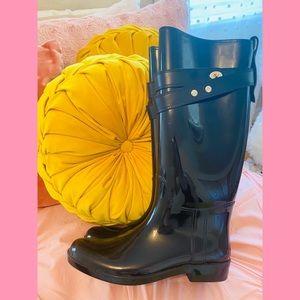Coach black new condition feminine Rain boots 👢💕